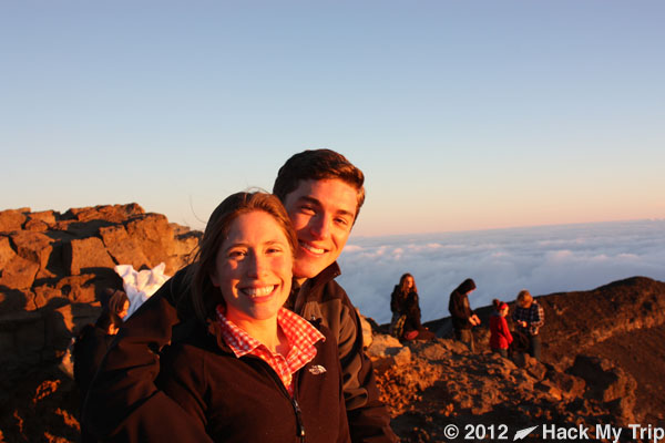 picture of Scott and Megan at Haleakala
