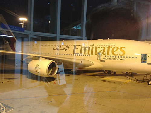 picture of Emirates A380 airplane