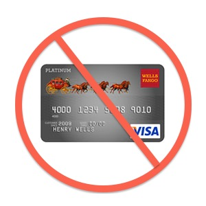 crossed out Wells Fargo VISA card image