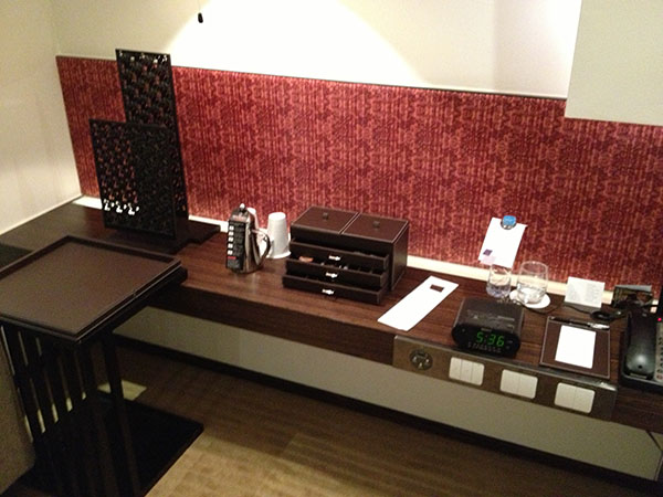 picture of hotel desk