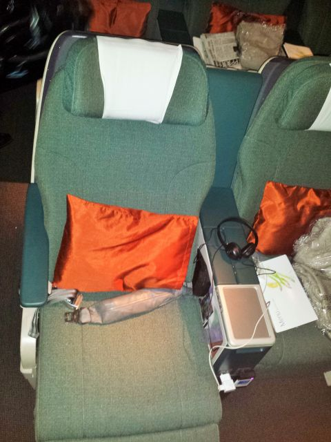 Cathay Pacific Business Class seat
