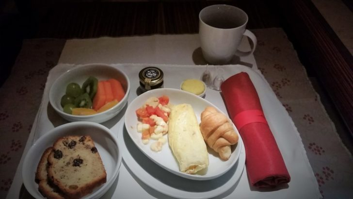 tam business class breakfast