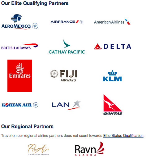 Alaska Airlines partners