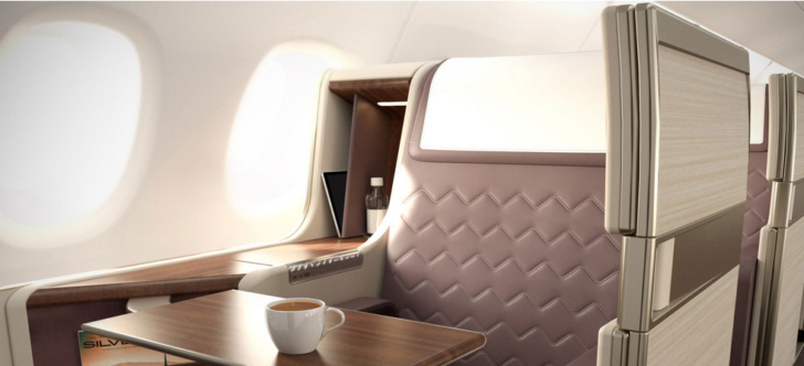 New Singapore Airlines business class