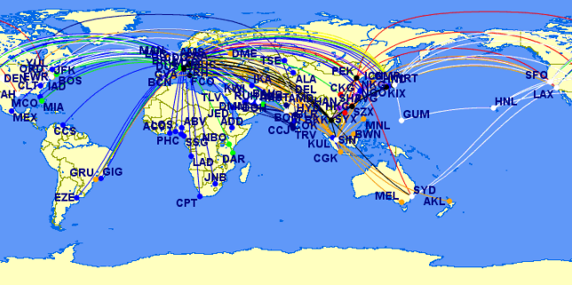 Star Alliance First Class Routes