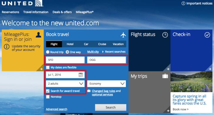 United website 1