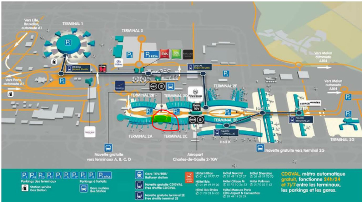 Map of Cathay Lounge