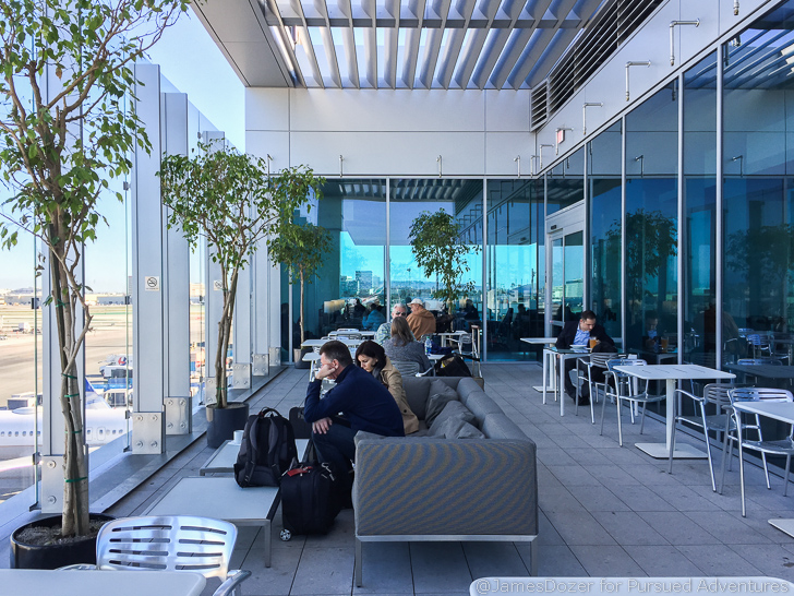 United Club LAX outdoor deck