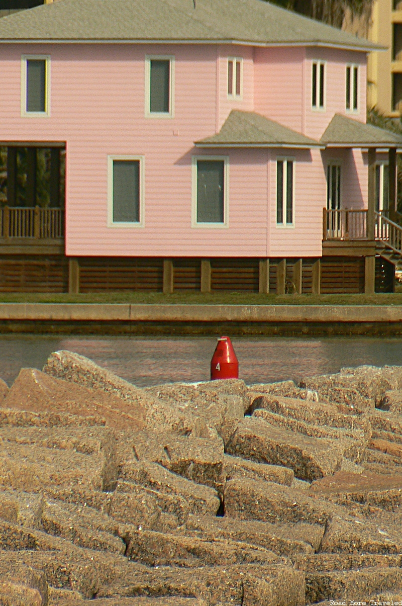 Port A Before the Hurricane - colorful beach houses