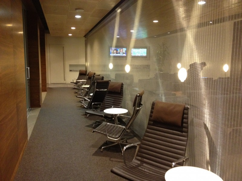 The First Class Lounge was MUCH more open and less crowded.