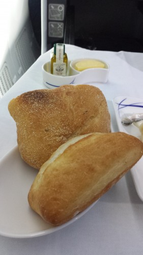 I got to choose warm bread from a basket, and it came with olive oil and butter. The ciabatta bread was really good with the olive oil.