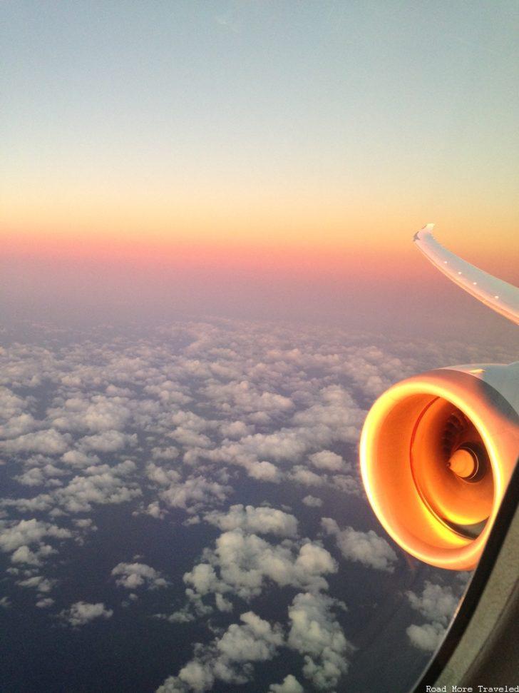 Sunset on engine