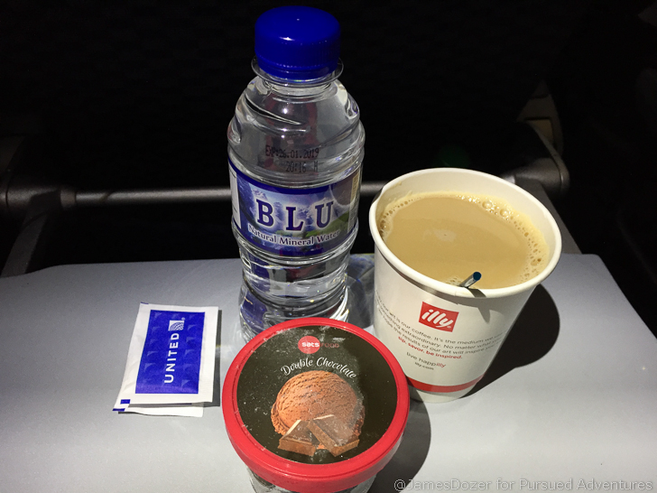 United 787 Economy Class meal